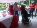 entrega de una silla de ruedas automatica